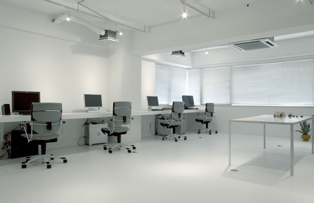 semitransparent design office